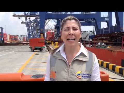 Llegada de grúas al puerto de Cartagena