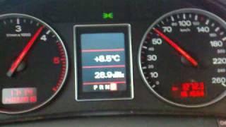 AUDI A4 2,5TDI Multitronic 0-150km/h