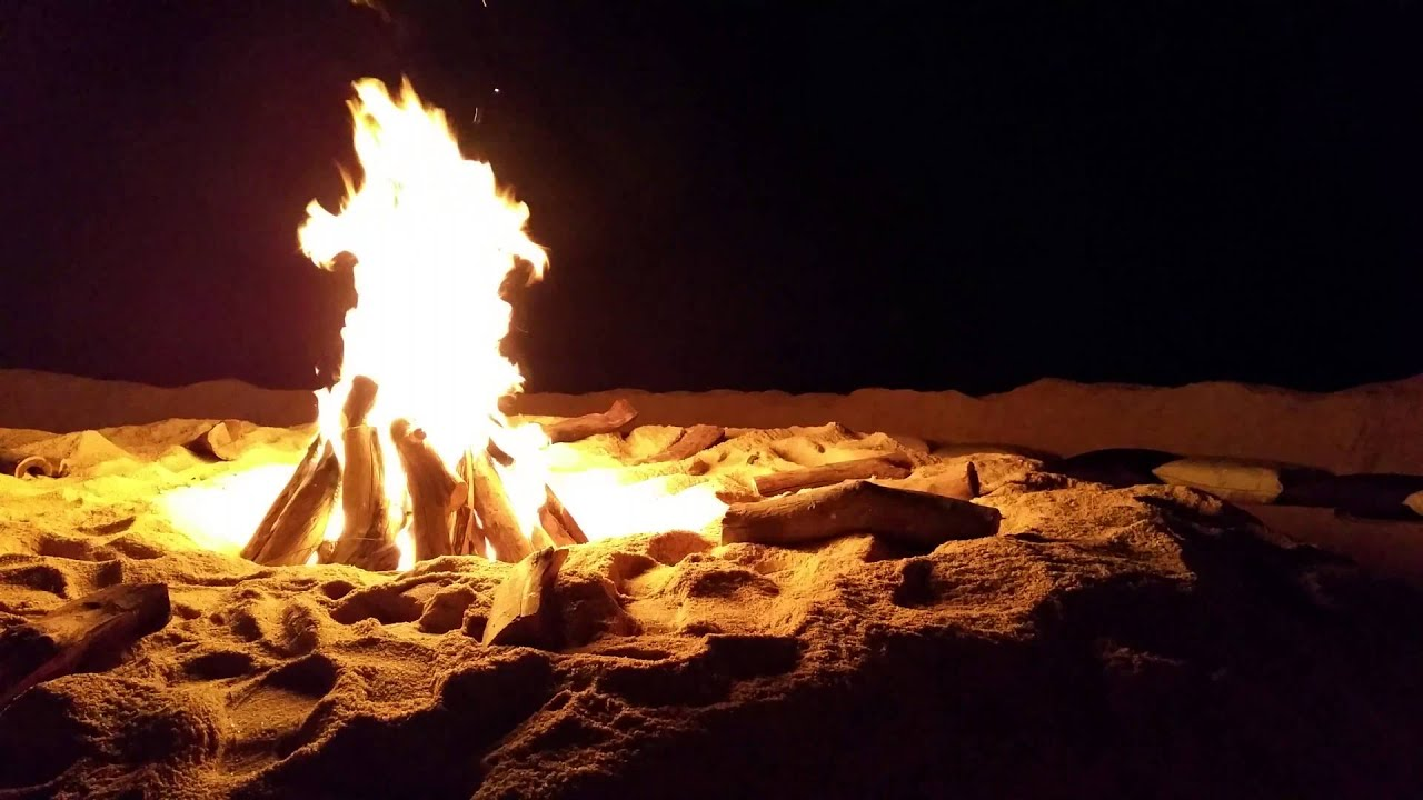 how to build a beach fire pit