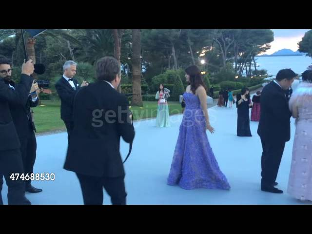 Aishwarya being photographed during AmFar in Cannes 2015