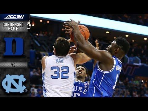 Duke Vs. North Carolina Condensed Highlights | 2018-19 ACC Basketball