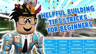 very useful BLOXBURG BUILDING TIPS AND TRICKS FOR BEGINNERS... probably helpful
