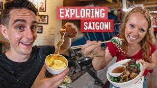 Trying Vietnamese EGG COFFEE in Saigon + Ben Thanh MARKET TOUR! (Ho Chi Minh, Vietnam)