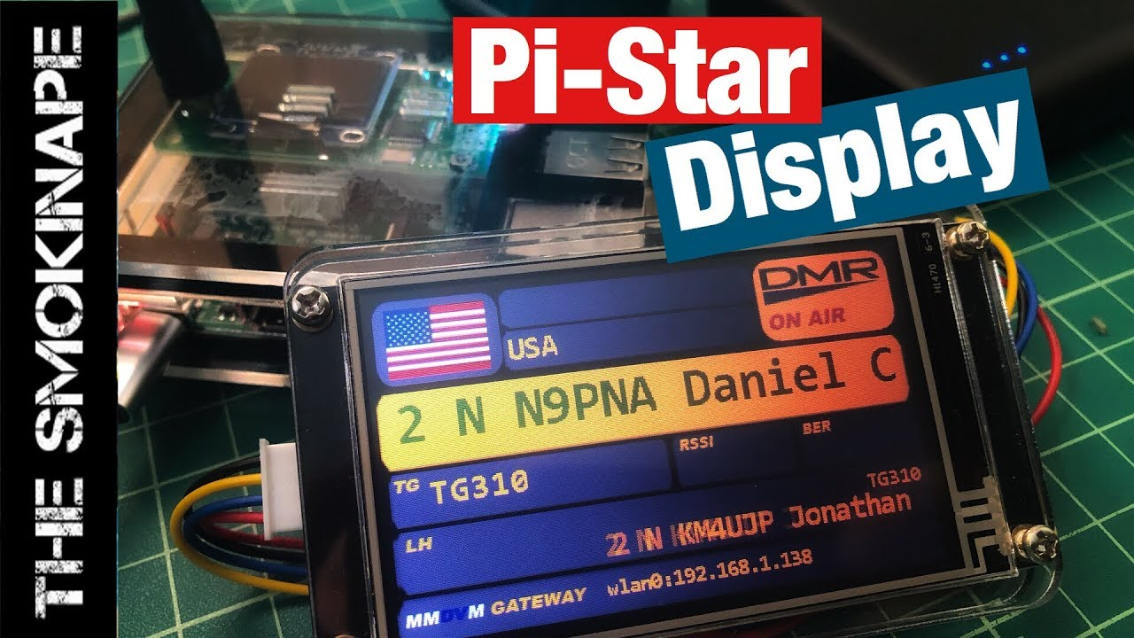 Nextion Display for Pi-Star MMDVM DMR Hotspot - TheSmokinApe