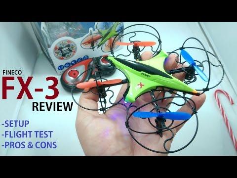 FINECO FX-3 Micro Quadcopter Drone REVIEW & MODS [Setup, Flight Test, Pros & Cons]
