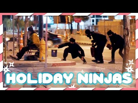 Holiday Ninjas Substitute Santa Claus!
