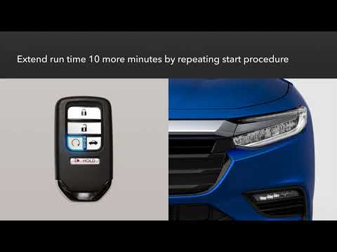 Honda Insight: How To Use Remote Engine Start