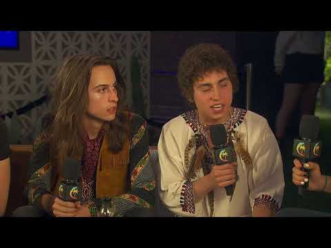 Greta Van Fleet Interview  Coachella 2018