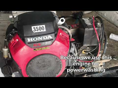 Oil change HONDA GX690 with part numbers