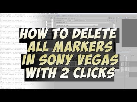 How To Delete All Markers In Sony Vegas - Tutorial