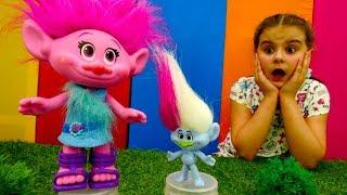 Игрушки из мультфильма Тролли - подарок для Розочки. Идеи для кукол - Мультики для девочек