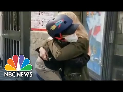 Watch NBC News Correspondent Reunite With Son After Coronavirus Coverage | NBC Nightly News