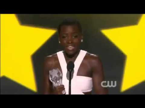 Lupita Nyongo WINS Critics Choice Awards 2014   Lupita Nyongo Acceptance Speech