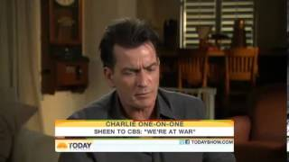Repeat youtube video Charlie Sheen Goes CRAZY on The Today Show