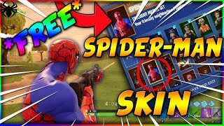 *NEW* HOW TO GET SPIDERMAN SKIN FREE IN FORTNITE BATTLE ROYALE