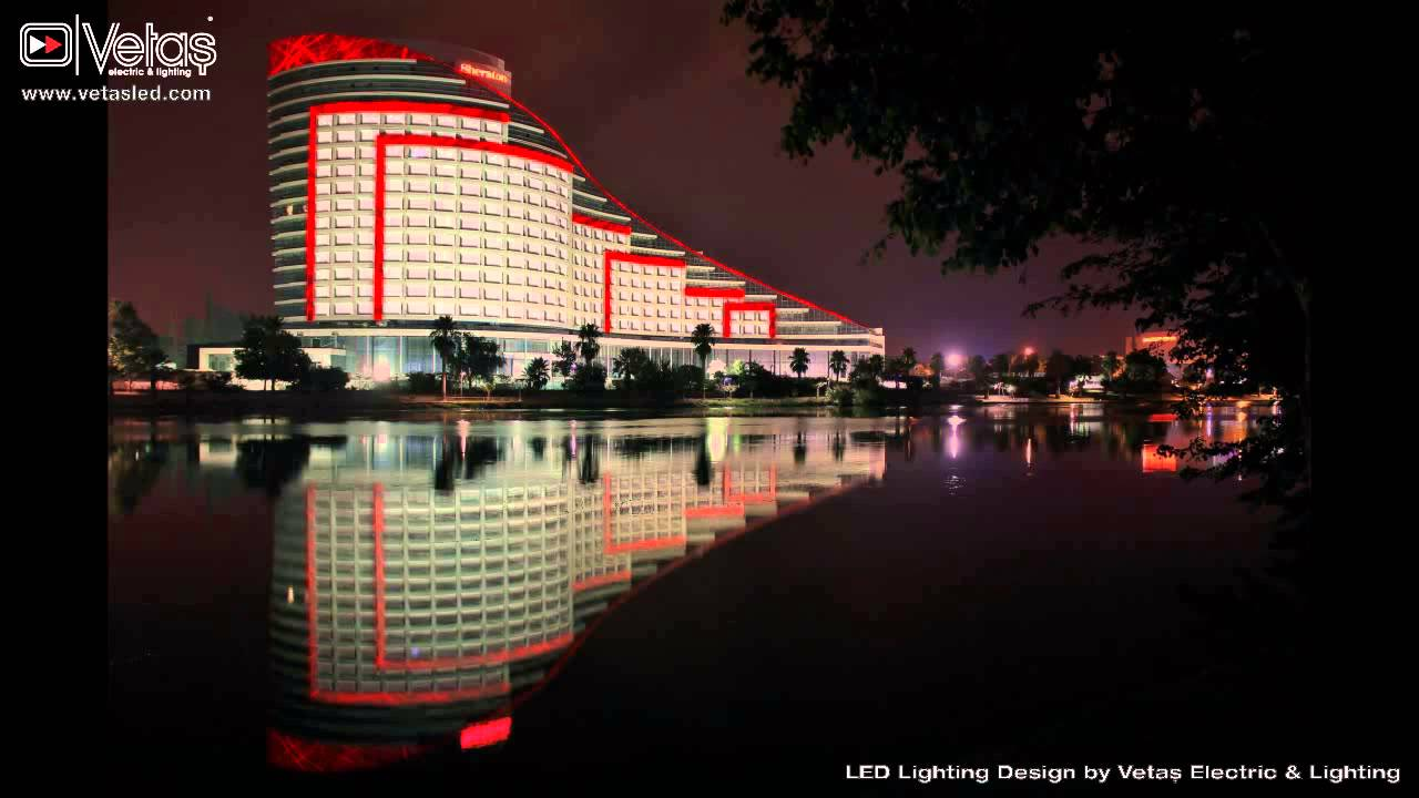 Sheraton Adana Hotel Facade Lighting Demo  YouTube
