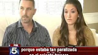 Mujer discapacitada por reacción a la vacuna de la gripe (subtítulos español)