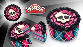 Monster High Dolls Cake. DIY Play Doh Cake