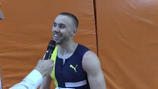 Hallen-SM 2020: 60m Männer Interview Silvan Wicki