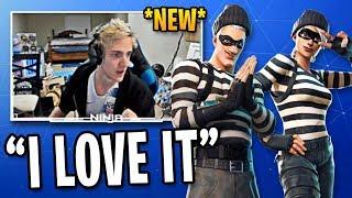 Ninja Reacts to NEW Jailbird Fortnite Skins, Pickaxe & Glider! | Fortnite Best Moments #64