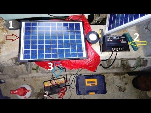 Simpleng Pagkakabit At Pag Gamit Ng Solar Power Youtube