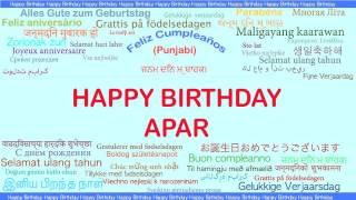 Apar   Languages Idiomas - Happy Birthday