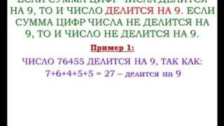 Видеоурок  Признаки делимости на 9 и на 3 Игорь Жаборовский227