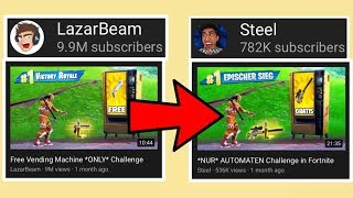 This YouTuber STEALS LazarBeam's Thumbnails...
