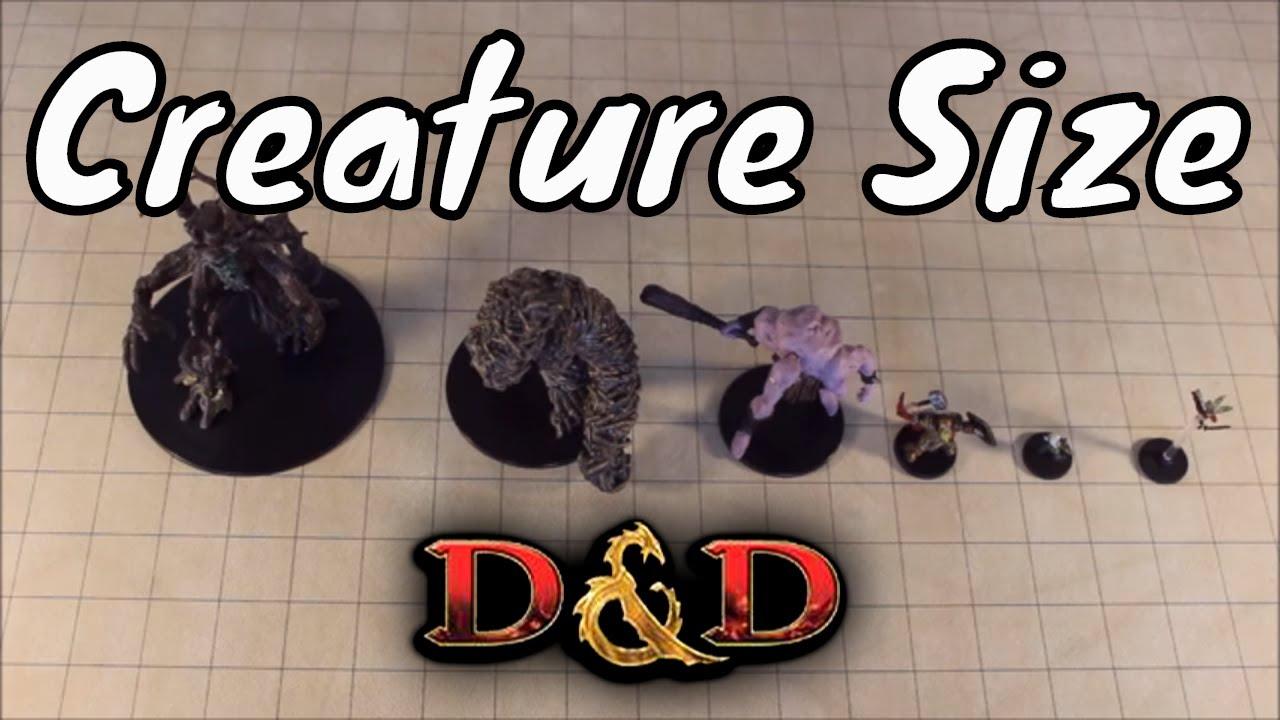 D&D (5e): Creature Size