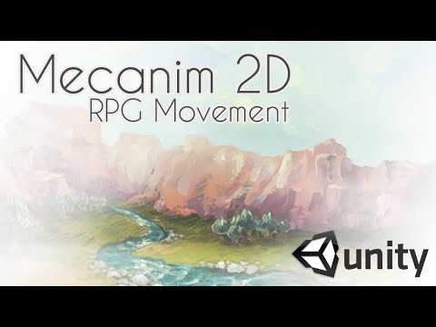 Mecanim 2D RPG Movement - Unity3D