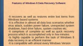 Windows 8 Data Recovery Software Review