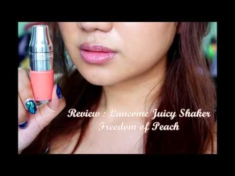 Lancome Juicy Shaker Pigment Infused Bi Phase Lip Oil Osmosis Skincare Quench Intense Hydrator, 1 Ounce