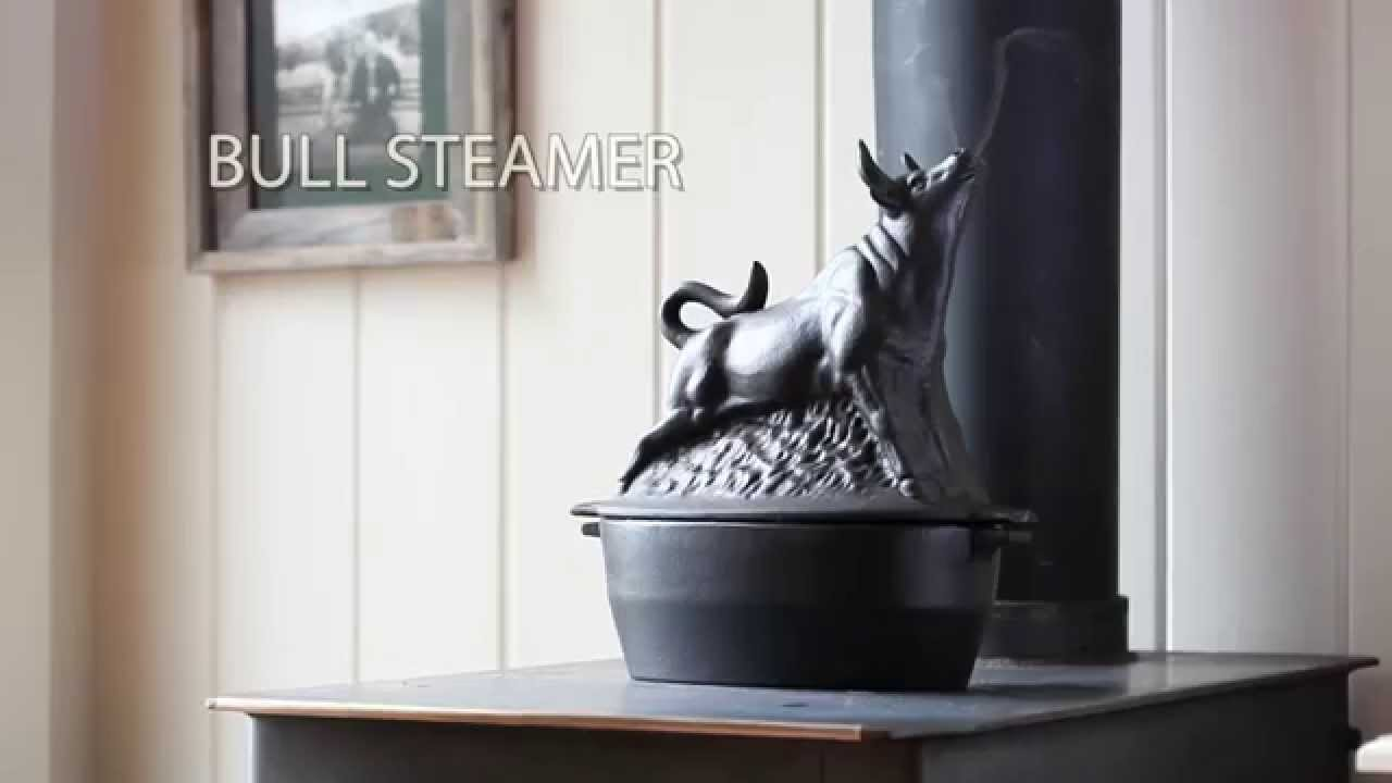 Cast Iron Bull Wood Stove Steamer SKU# 13831 - Plow & Hearth - Cast Iron Bull Wood Stove Steamer SKU# 13831 - Plow & Hearth - YouTube