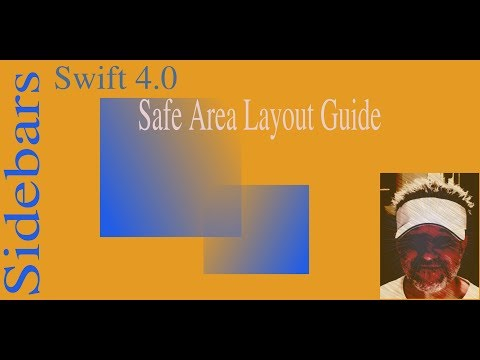Safe Area Layout Guide:Swift Sidebars xCode