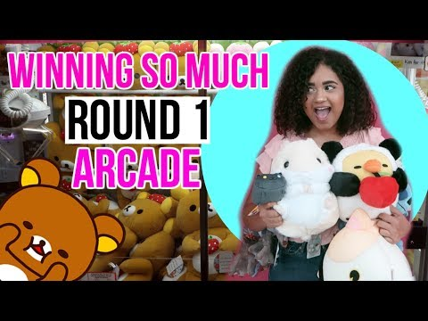 We won SO MUCH at Round 1 Arcade!!!