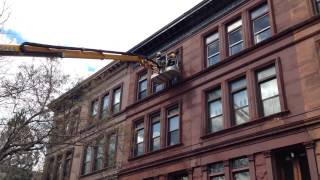 Brownstonw Facade Repair, Cornice Paint- High Tech Construction Co