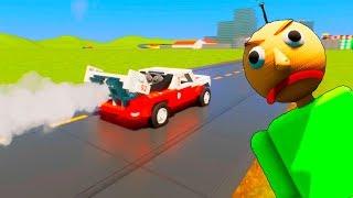 Lego Baldi Vs Lego Colored Cars   Brick Rigs