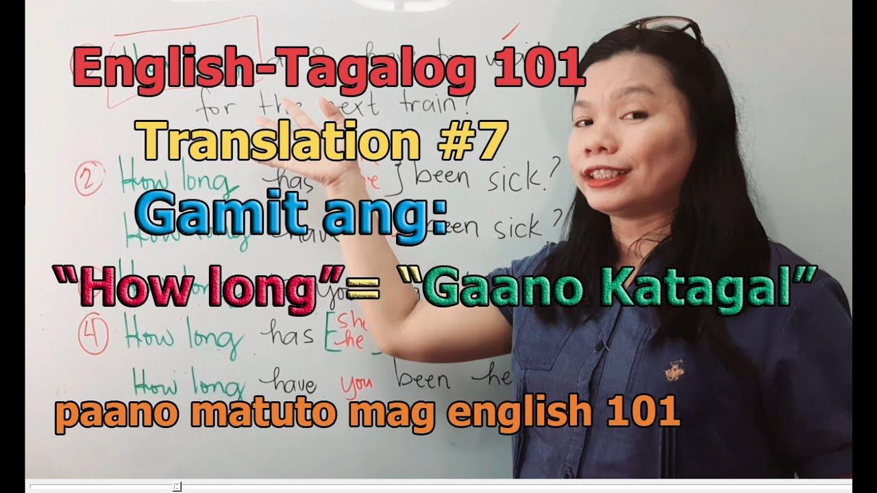 English Tagalog 101 Translation #7 and Correct Grammar in English (paano matuto mag english 101)