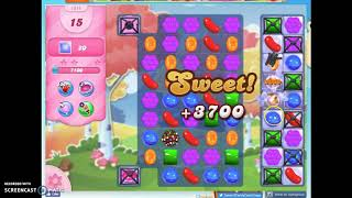 Candy Crush Level 1511 Audio Talkthrough, 1 Star 0 Boosters