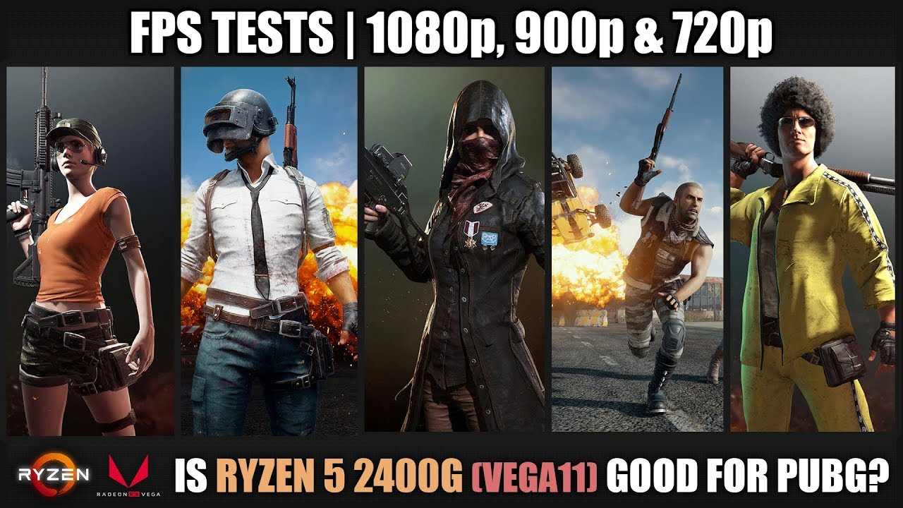 Is Ryzen 5 2400G good for PUBG? | FPS Tests and Gameplays | Stock vs Overclock | 1080p, 900p & 7