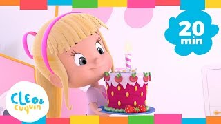 Cover images HAPPY BIRTHDAY and More Songs. Cleo & Cuquin. Nursery Rhymes I Songs For Kids (20 Minutes)