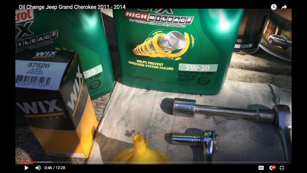 Oil Change Jeep Grand Cherokee You