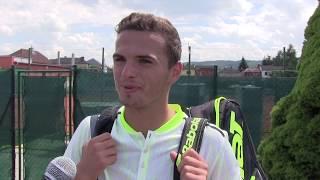 Ondřej Krstev po výhře ve 2. kole na turnaji Futures v Ústí n. O.
