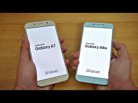 Samsung Galaxy A7 (2017) vs Galaxy A8 (2016) - Speed Test! (4K)