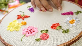 Start to learn embroidery with these 10 RIBBON EMBROIDERY FLOWERS: ...