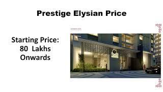 Best Investment Apartment in South Bangalore   Bannerghatta Road   Prestige Elysian
