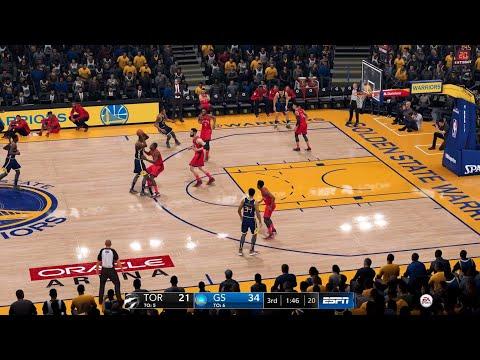 NBA LIVE 19 - Toronto Raptors vs Golden State Warriors - CPU SIM Full Game - PS4 PRO - HD