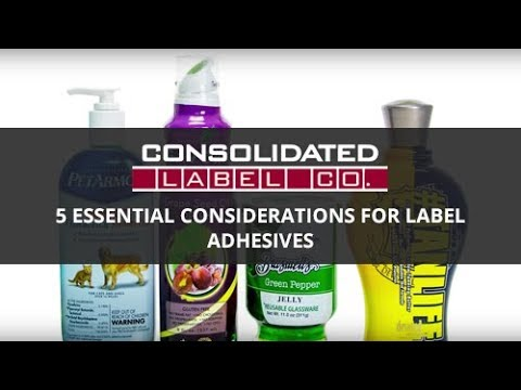 5 Essential Considerations for Choosing a Label Adhesive