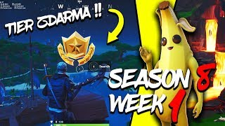 WHERE is the FIRST FREE TIER FOR SEASON 8 (Week 1)-Fortnite Battle Royale CZ/SK
