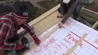 Как сделать мансардную крышу . Часть 3 .How to make mansard  roof .